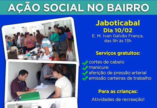 Notícia - Jaboticabal recebe primeira Ação Social no Bairro do ano ... 6c4db77c84