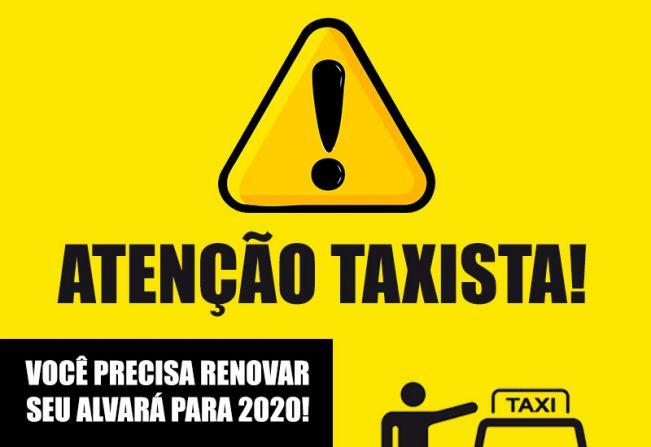 Motoristas de Taxi têm até 28 de fevereiro para renovar licença